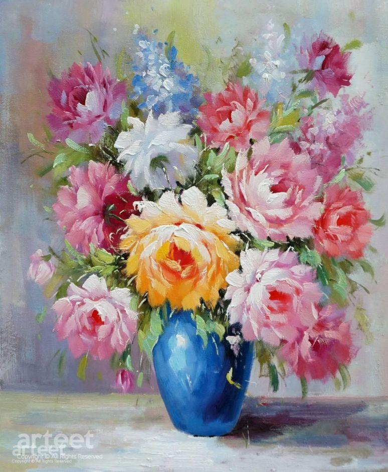Roses In A Vase Painting For Home Decoration Online Gallery