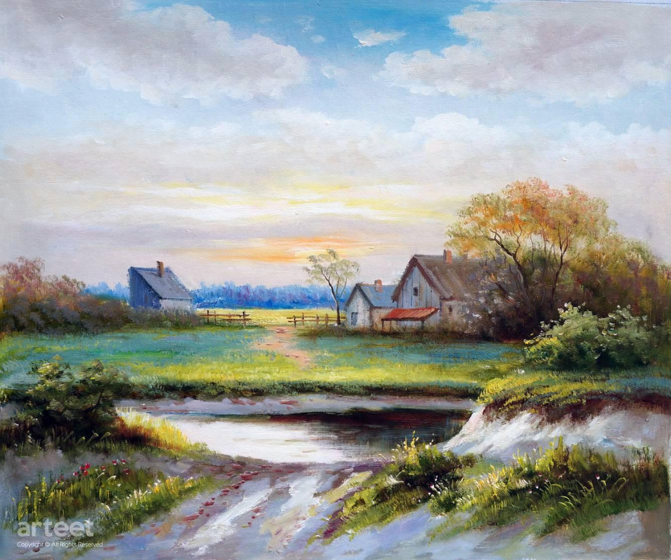 A Picturesque Grange Art Paintings For Sale