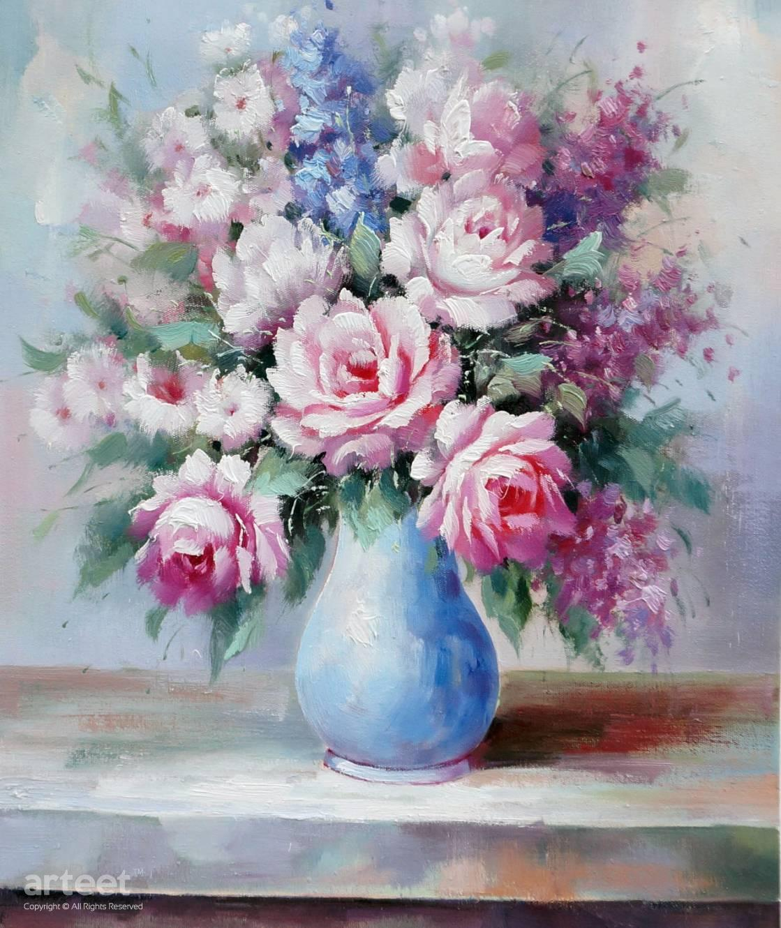 flowers on the balcony art paintings for sale online gallery