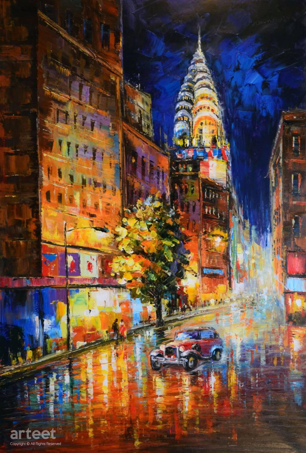 new york heartbeat art paintings for sale online gallery. Black Bedroom Furniture Sets. Home Design Ideas