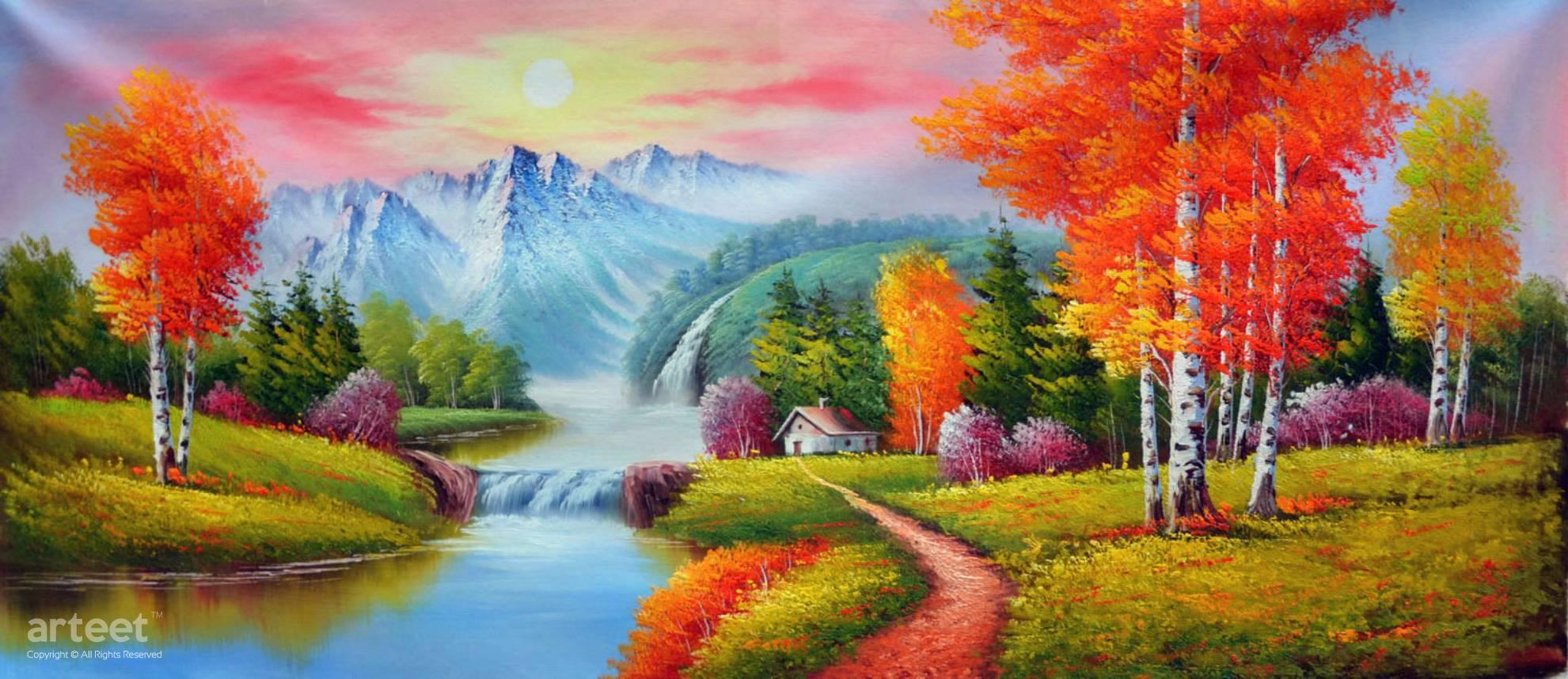 Northern Kiss Of Dusk Art Paintings For Sale Online Gallery