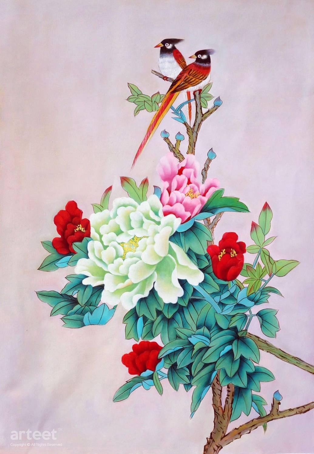 oriental birds art paintings for sale arteet�